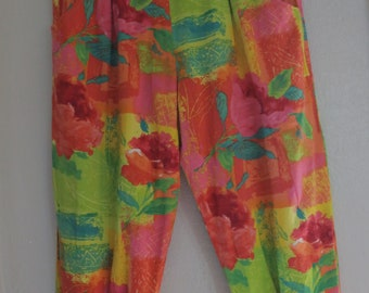Vintage 90s Jams World Rayon Capri Pants
