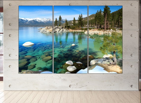 Lake Tahoe  canvas wall art Lake Tahoe wall decoration Lake Tahoe canvas wall art art Lake Tahoe large canvas wall art  wall decor
