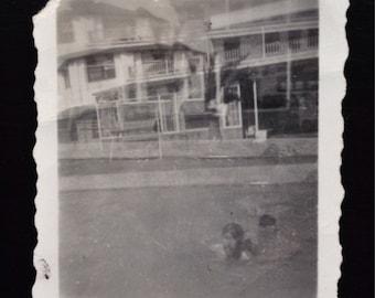 Original Vintage Photograph   Double Exposed
