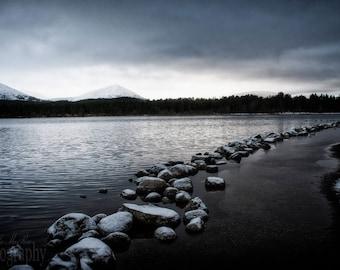 First day of Winter in the Scottish Highlands, Cairngorms, Loch Morlich, Aviemore