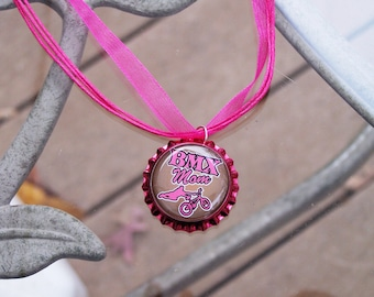 BMX Mom Team Gift Prize Party Favor Necklace