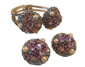 Vintage Hattie Carnegie Bracelet & Clip On Earrings