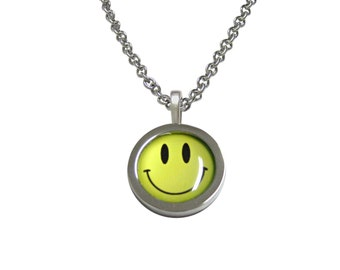 Smiling Face Pendant Necklace