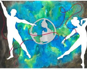 Red String - Print 11x14