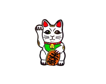 Maneki-neko Cat Pin