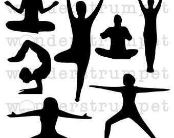 Yoga Journaling Blocks Stencil for Art Journaling