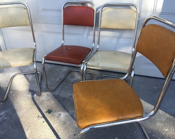 chrome retro vintage dining kitchen chairs - Retro Chairs