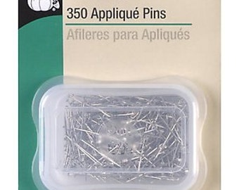 Pack of 2 Dritz 350 Count Applique Pins Quilting Pins Nickle Plated Steel  Quilting Sewing Projects Notions