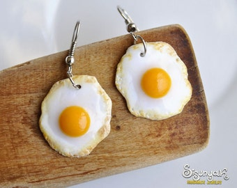 Fried Eggs Earrings - Gifts for her