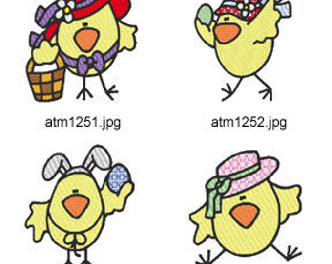 Easter-Chicks ( 7 Machine Embroidery Designs from ATW ) XYZ17C