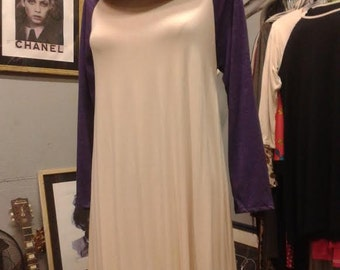 Baseball Jersey Dress, Purple and Cream...