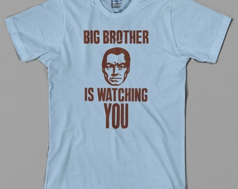 1984 Big Brother T Shirt  - watching you, george orwell, movie, novel, anti government, political - Graphic tee, All Sizes & Colors