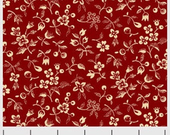Signature Patriot Red by Washington Street Studio 26616-RED1 Cotton Fabric Yardage