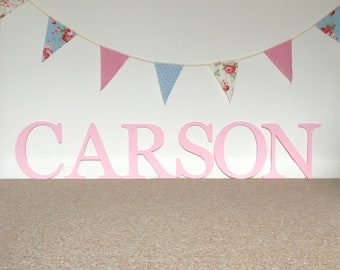 Baby Name Letters, Above a Crib, Nursery Wall Letters, Gallery Letter, Pink Wall Letters, Newborn Nursery, Oh Baby Girl, Custom Wooden Gift