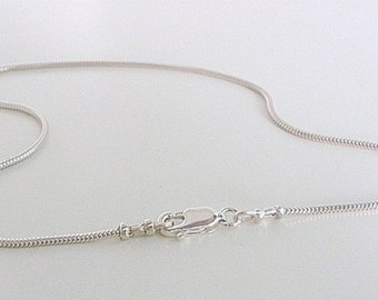 Snake Chain Anklet, Sterling Silver Ankle Bracelet for women, Silver 1.2mm Snake Chain, gift for her, handmade, girlfriend gift, 9 - 12 ""