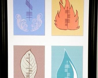 Elements Ogham 12x18 Print