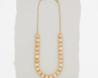 Simple Wood Necklace // Small