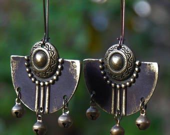 womens Hippie Jewelry Bohemian Jewelry Chic Jewelry Tribal Jewelry Hippie Earrings Hoop Earrings Dangle Earrings Boho Jewelry Gift for Her