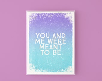 You And Me Were Meant To Be Letterpress Greeting Card