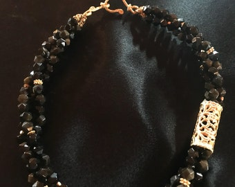 Brown Obsidian Necklace For Men Mans Gemstone Necklace