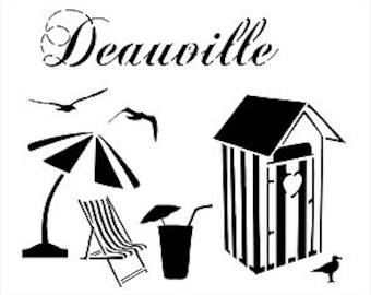 """""""Stencil, stencil""""Deauville""""french touch, beach, sea"""""""