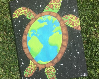 Earth Sea Turtle Painting