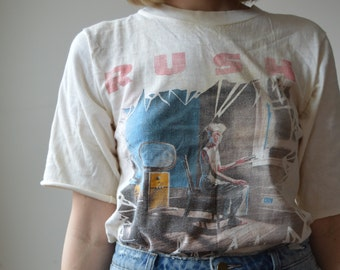 Vintage RUSH Power Windows Tour Tshirt