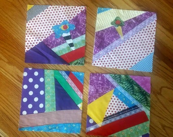 Bright and Beautiful!  Quilt top pieces.