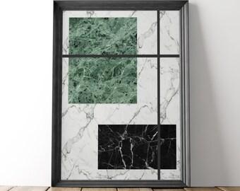 Marble wall print, Printable poster, Modern wall art, Marble art poster, Printable poster, Geometric print, Home wall print, Office decor
