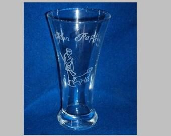 1 verre à ricard Gravé et Personnalisé décors et inscriptions