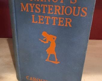 1932 Nancy Drew, Nancy's Mysterious Letter