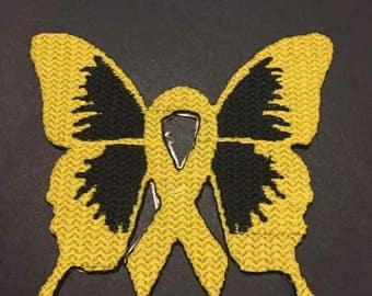 Iron On Patch Awareness Ribbon Global Sarcoma Cancer Survivor