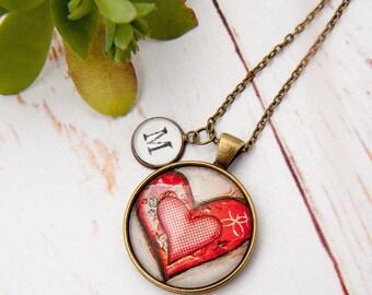 LEGO ® Heart Necklace (RED) Wedding, Girlfriend, Valentines