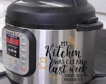 Instant Pot Decal, Decal, Instant Pot, Instant Pot Decal, Decals for Instant Pot, Pressure Cooker, Kitchen Appliances