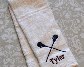 Personalized Lacrosse Sport Towel 2 ST023