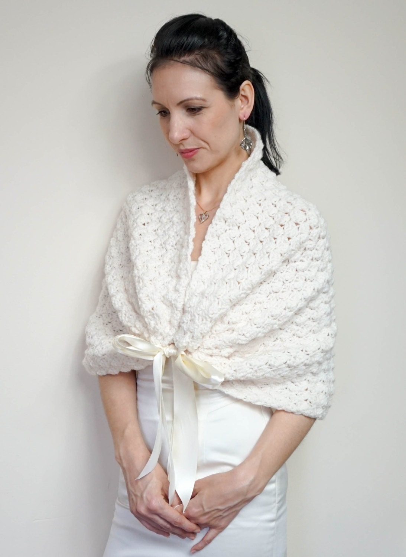 Weiße Braut Bolero Hochzeit Bolero Spitze Elegant häkeln