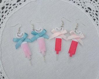 Glitter Injection menhera yamikawaii earrings