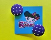 Retro, Purple And White P...