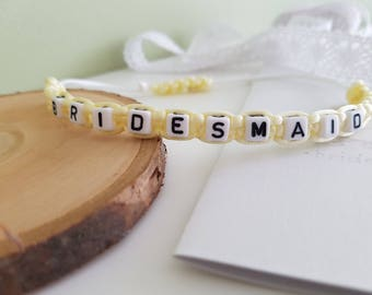 Bridesmaid bracelet / personalized gift ..