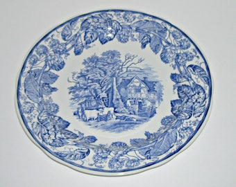 Spode Blue Room Collection Rural Scenes Cow Plate
