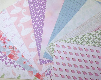 12 sheets motif cardboard/paper printed on both sides e.g. for greeting cards/scrapbooking/...