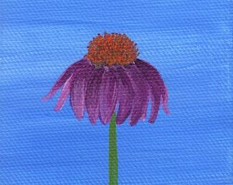 Tiny Coneflower Painting