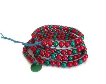 Layering Bracelets, Strackable bracelet, Chan Luu Style Wrap Bracelet, Wrap Boho bracelet, Beaded jewelry, Bracelet for women, Gift For Her