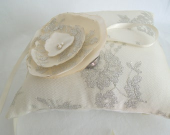 Simply Sweet Collection- Satin and Lace Ring Bearer Pillow