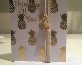 Pineapple thinking of you, card