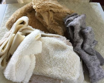 Large Assortment of Sherpa Fleece / Faux Fur / Crafting
