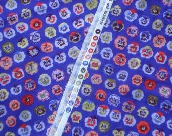 Kaffe Fassett Pansy blue purple GP 23 Rowan Fabrics Fat Quarter or more