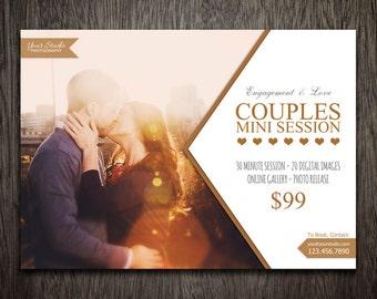 Photography Marketing Template - Photoshop Template for Photographers - Photography Template Engagement - Flyer Postcard Newsletter MT009