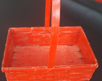 Small red basket