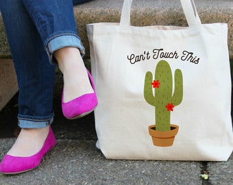 Can't Touch This Cactus XL Tote Bag
